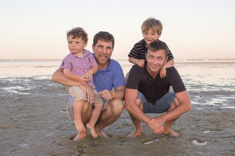 Gay couple with children