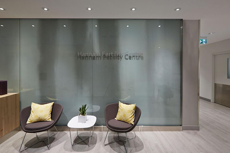 Hannam Fertility Centre waiting room