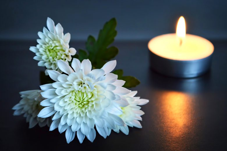 White Flowers and Tea Light