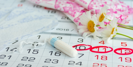 Tampon on a Calendar