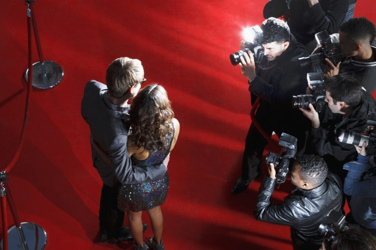 Celebrities on Red Carpet Getting Photographed