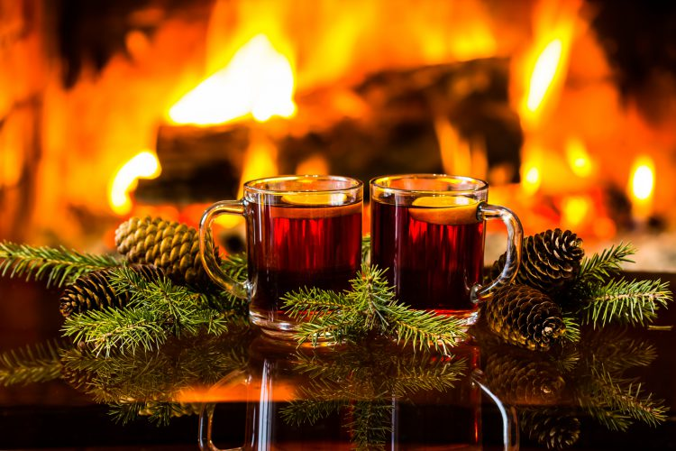 Two Cups of Tea Near a Fire