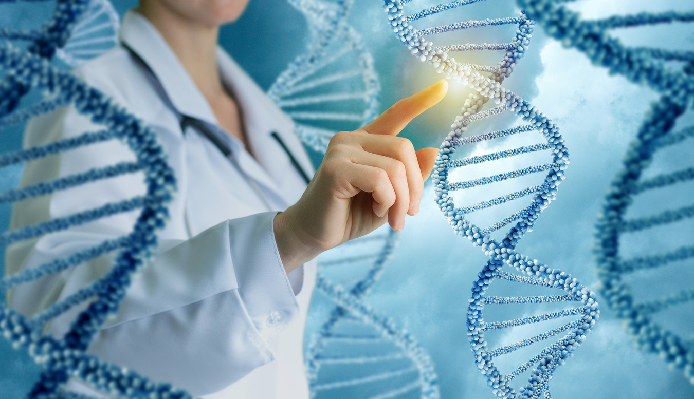 Doctor Touching DNA