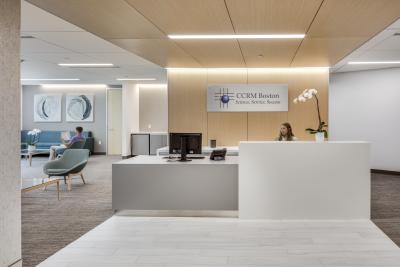 CCRM Boston front desk