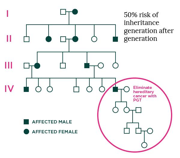 Cancer Familiy Pedigree Graphic